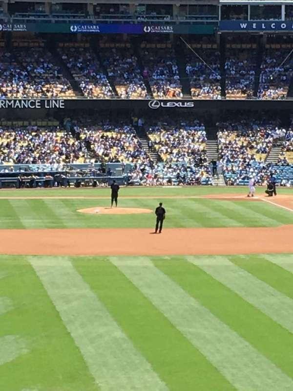 Dodger Stadium, secção: 303PL, fila: X, lugar: 1