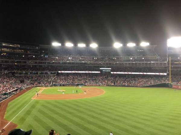 Nationals Park, secção: 238, fila: J, lugar: 19