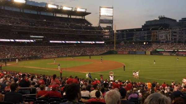Nationals Park, secção: 133, fila: PP, lugar: 11