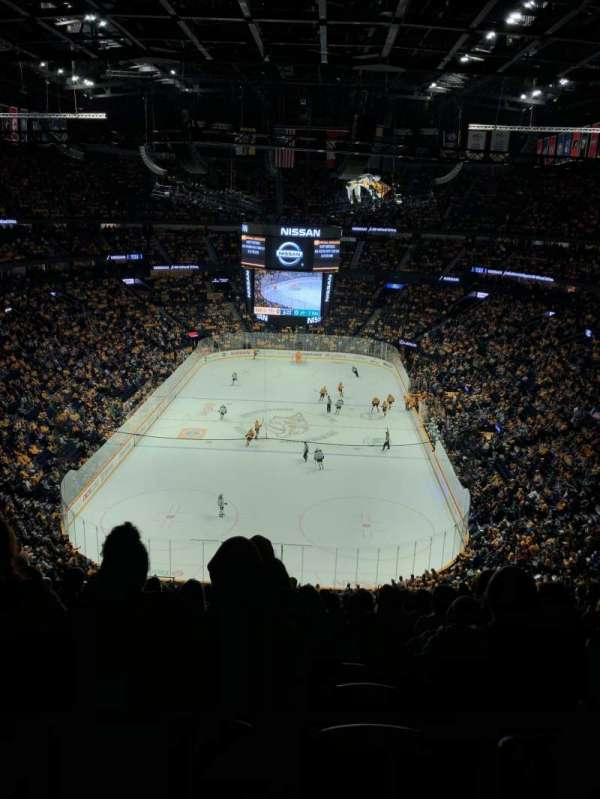 Bridgestone Arena, secção: 318, fila: SRO