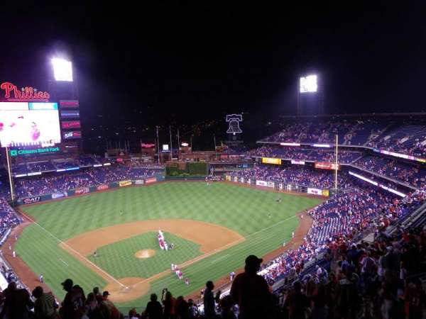 Citizens Bank Park, secção: 419, fila: 16, lugar: 1
