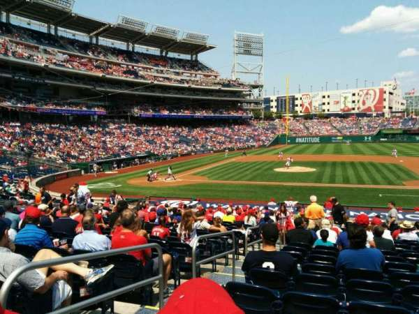 Nationals Park, secção: 129, fila: cc, lugar: 26