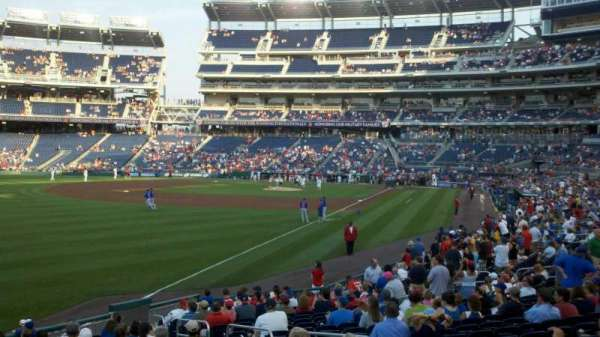 Nationals Park, secção: 108, fila: Z, lugar: 7
