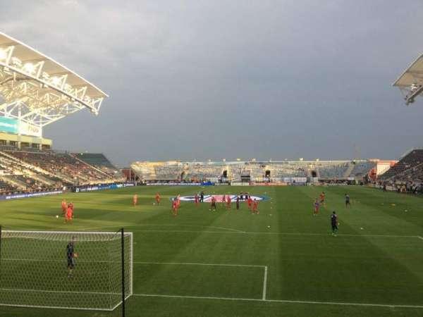 Talen Energy Stadium, secção: 116, fila: J, lugar: 15