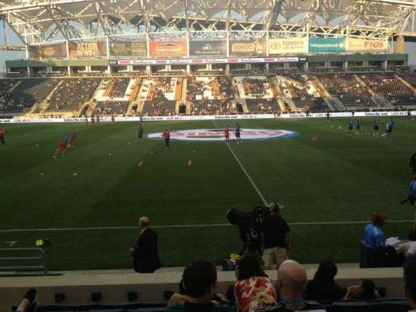 Talen Energy Stadium, secção: 106, fila: N, lugar: 4