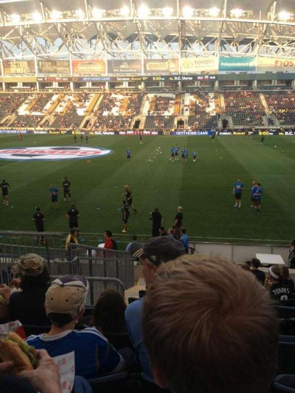 Talen Energy Stadium, secção: 104, fila: P, lugar: 15