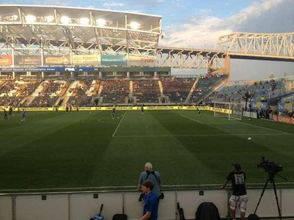 Talen Energy Stadium, secção: 103, fila: F, lugar: 16