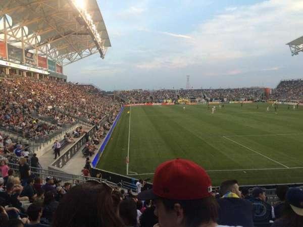 Talen Energy Stadium, secção: 120, fila: R, lugar: 11