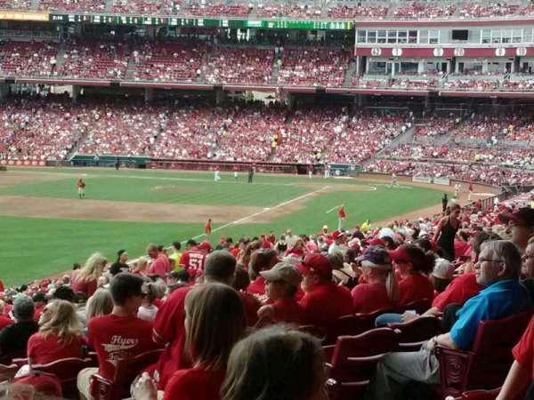 Great American Ball Park, secção: 108, fila: oo, lugar: 1