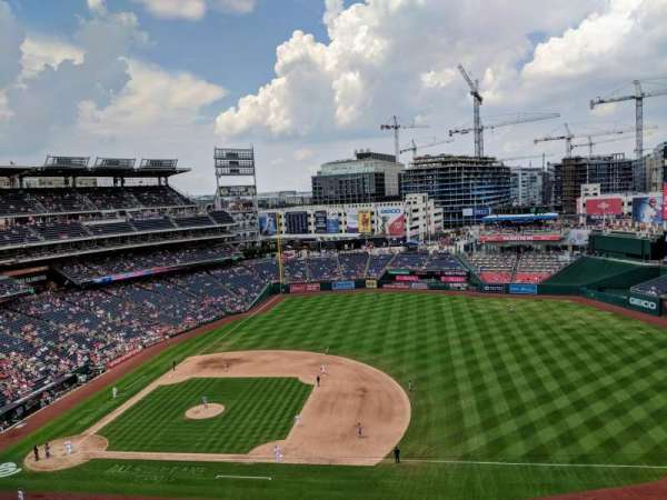 Nationals Park, secção: 420, fila: A, lugar: 12