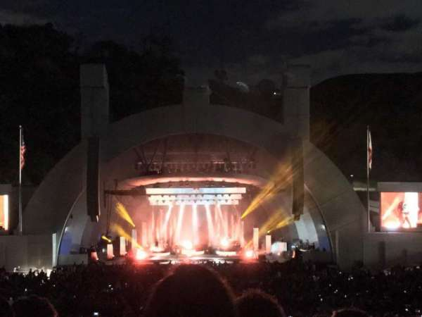 Hollywood Bowl, secção: H, fila: 13, lugar: 110