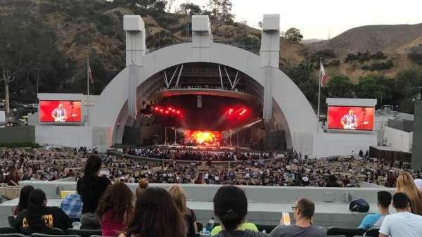 Hollywood Bowl, secção: G1, fila: 11, lugar: 17