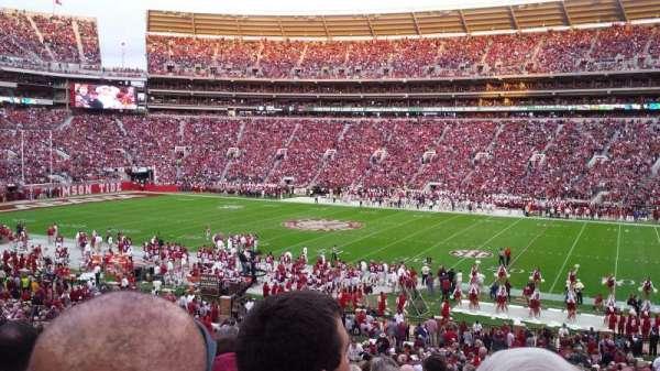 Bryant-Denny Stadium, secção: D, fila: 43, lugar: 22