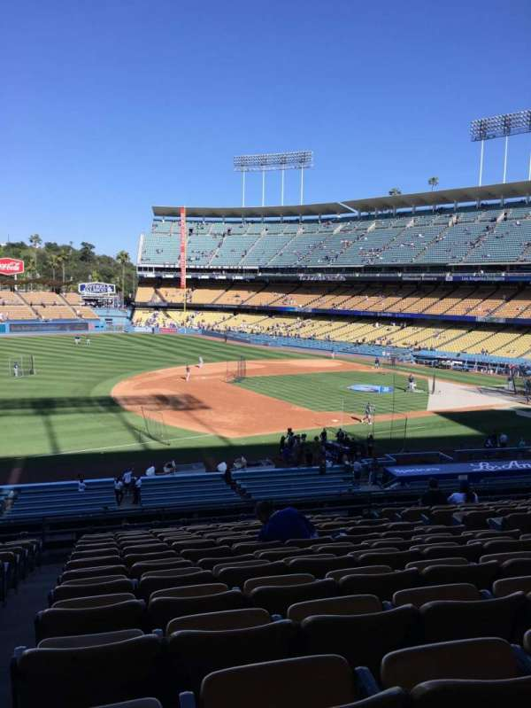 Dodger Stadium, secção: 143LG, fila: N, lugar: 8