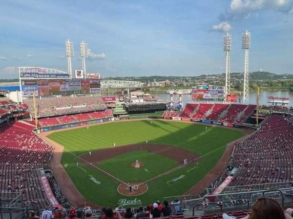 Great American Ball Park, secção: 524, fila: M, lugar: 9