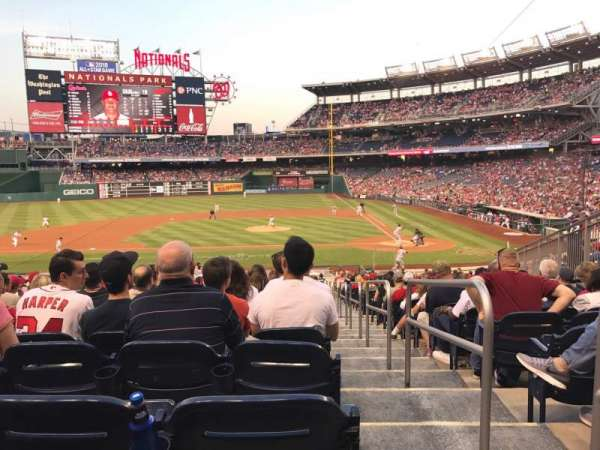 Nationals Park, secção: 117, fila: KK, lugar: 1