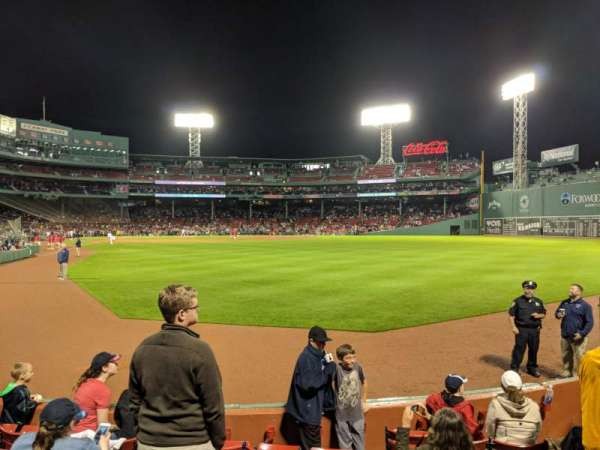 Fenway Park, secção: Right Field Box 2, fila: H, lugar: 6