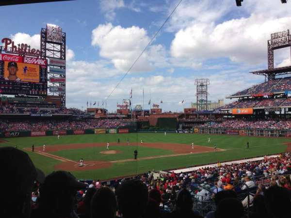 Citizens Bank Park, secção: 122, fila: 33, lugar: 7