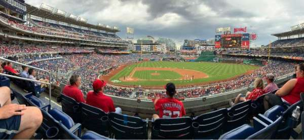 Nationals Park, secção: 218, fila: C, lugar: 18