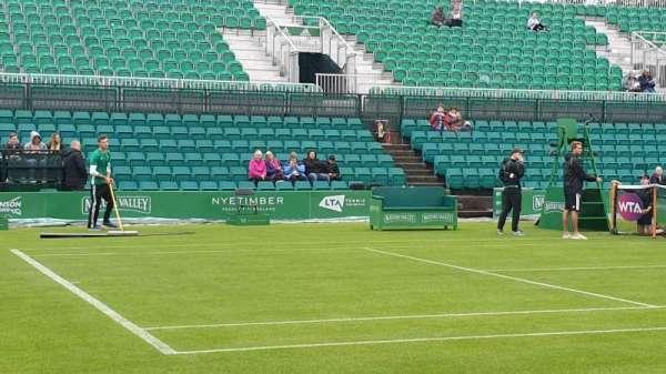 Nottingham Tennis Centre, secção: West Stand, fila: B, lugar: 58