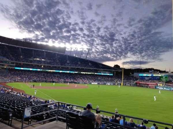 Kauffman Stadium, secção: 247, fila: AA, lugar: 7