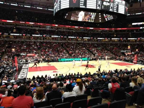 United Center, secção: 113, fila: 15, lugar: 2