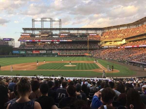 Coors Field, secção: 136, fila: 30, lugar: 8