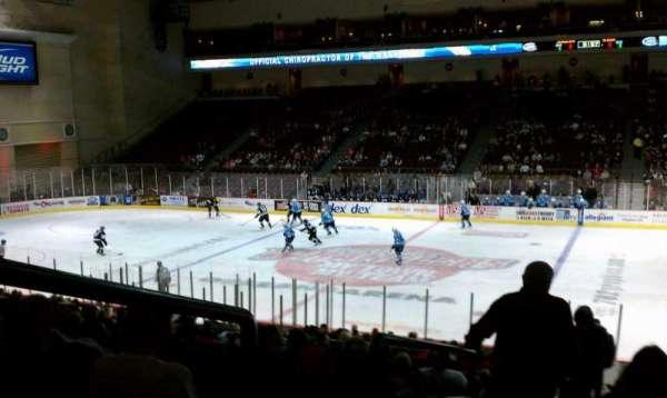 Orleans Arena, secção: 115, fila: Q, lugar: 18
