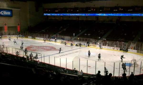 Orleans Arena, secção: 113, fila: T, lugar: 18