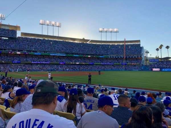 Dodger Stadium, secção: 42FD, fila: G, lugar: 3