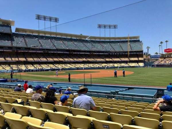 Dodger Stadium, secção: 34, fila: K, lugar: 8