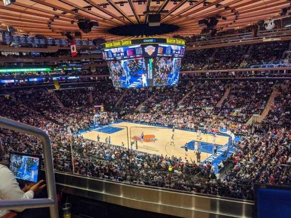 Madison Square Garden, secção: 214, fila: 2, lugar: 1