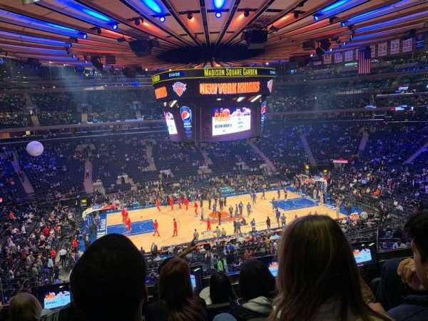 Madison Square Garden, secção: 210, fila: 4, lugar: 9