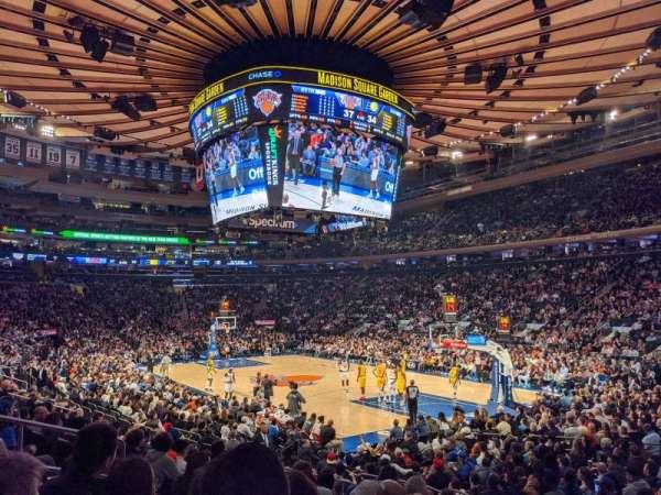 Madison Square Garden, secção: 110, fila: 10, lugar: 8