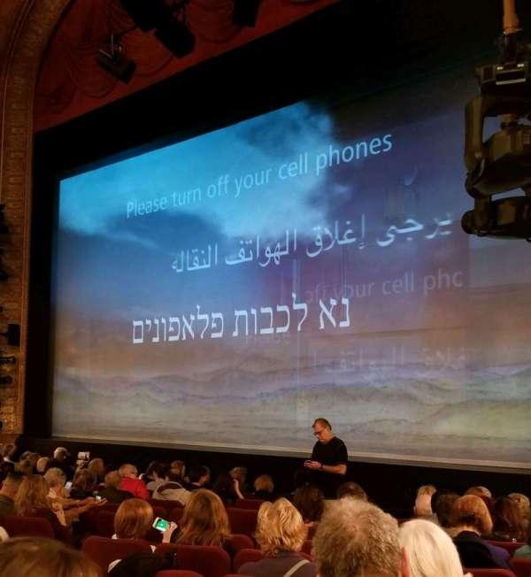 Ethel Barrymore Theatre, secção: Orchestra R, fila: K, lugar: 18