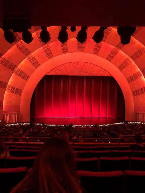 Radio City Music Hall, secção: 1ST Mezzanine 5, fila: F, lugar: 505