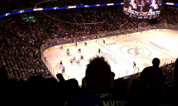 Amalie Arena, secção: 305, fila: N, lugar: 3