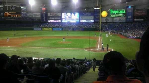Tropicana Field, secção: 107, fila: JJ, lugar: 1