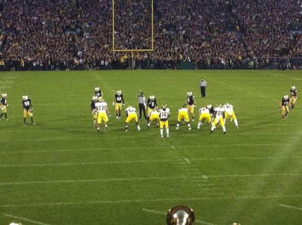 Notre Dame Stadium, secção: 1, fila: 23, lugar: 26