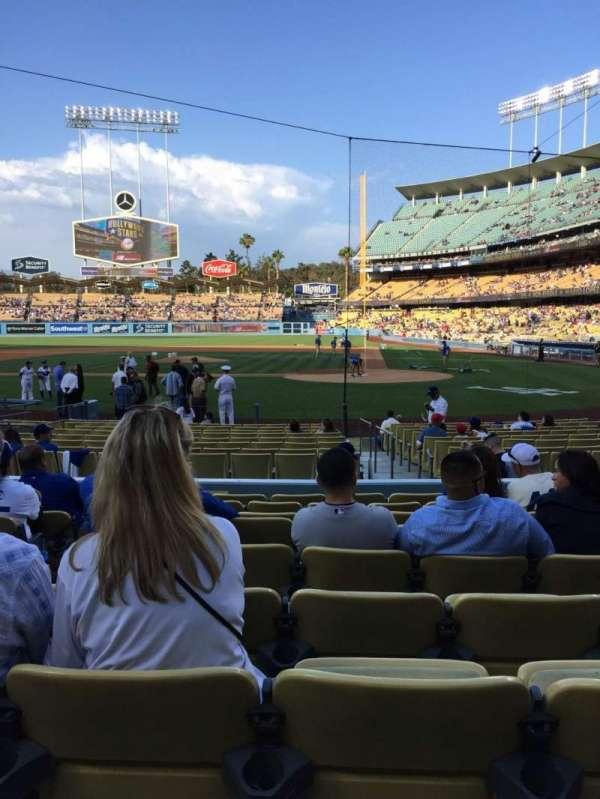 Dodger Stadium, secção: 9FD, fila: J, lugar: 5