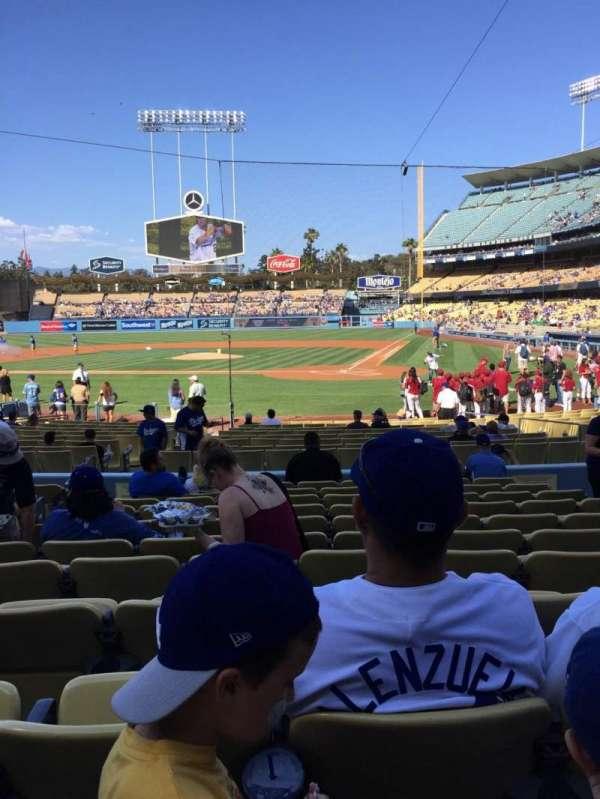 Dodger Stadium, secção: 7FD, fila: L, lugar: 7