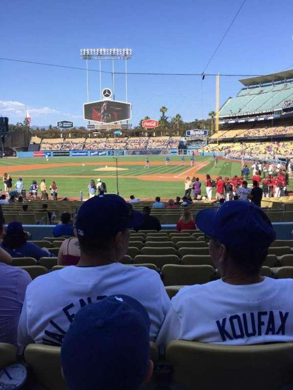 Dodger Stadium, secção: 7FD, fila: L, lugar: 6