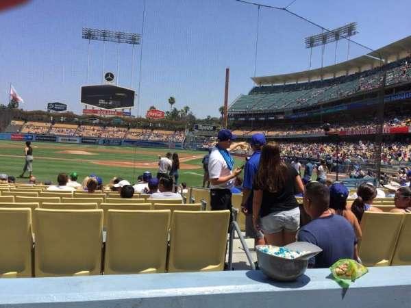 Dodger Stadium, secção: 5fd, fila: B, lugar: 9