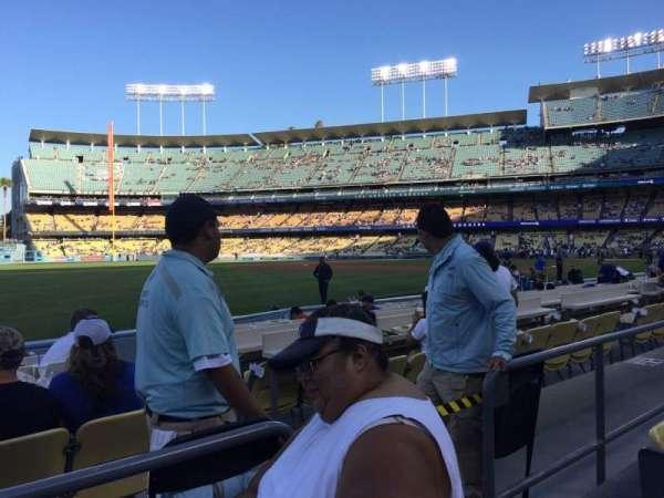 Dodger Stadium, secção: 45FD, fila: B, lugar: 4