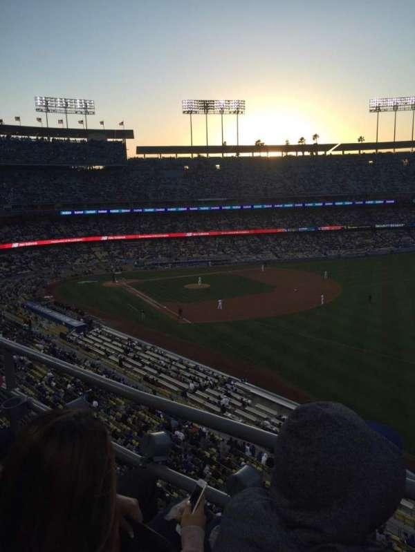 Dodger Stadium, secção: 44RS, fila: B, lugar: 18