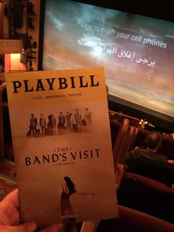 Ethel Barrymore Theatre, secção: Front Mezzanine R, fila: E, lugar: 2