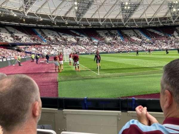 London Stadium, secção: 103, fila: 3, lugar: 432