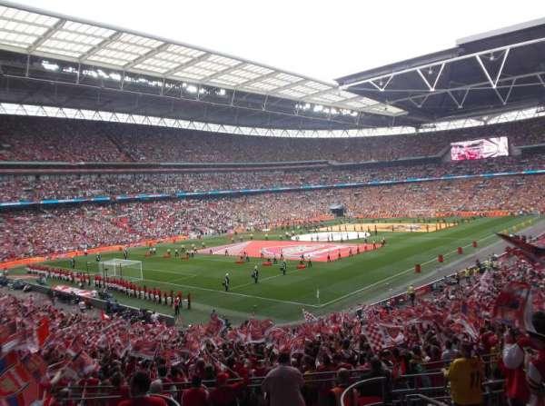 Wembley Stadium, secção: 129, fila: 38, lugar: 185