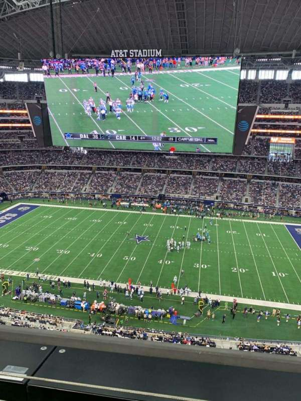 AT&T Stadium, secção: 411, fila: 1, lugar: 1
