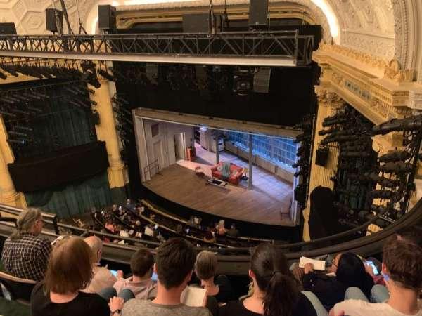 Hudson Theatre, secção: Balcony R, fila: D, lugar: 10